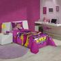 Jogo De Cama 3pçs + Edredom Barbie Super Princesa Lepper