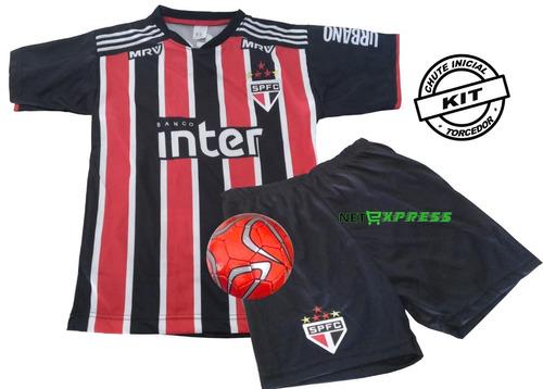 Uniforme Infantil Do São Paulo Camisa Shorts Mais Mini Bola c59a5bb08e0a6