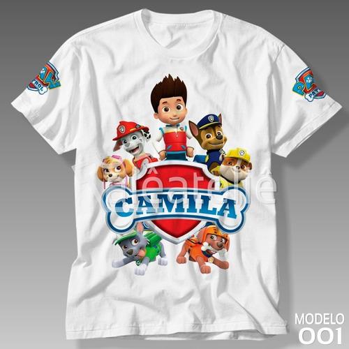 29ebb5796 Camiseta Patrulha Canina Infantil Personalizada Camisa  01 à venda ...