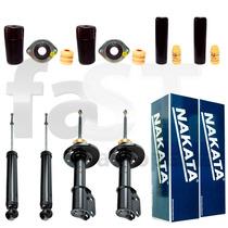 4 Amortecedores Nakata + Kits Gm Corsa Sedan 1995/2002