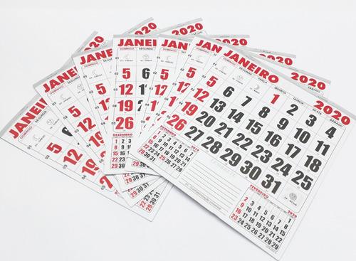 6896d36b2 100 Bloco Calendário Comercial 2020 21x22 Refil Kit Folhinha. R  100.2