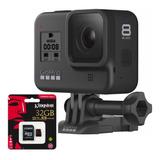 Câmera Digital Gopro Hero 8 Black 12 Mp 4k + Sd 32gb Com Nfe