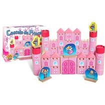 Brinquedo Pedagógico Madeira Castelo Da Princesa 64 Peças