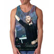 Camiseta Eletrônica Dj David Guetta Amsterdam Regata Mascul