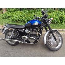 Vendo Moto Triumph Bonneville T 100 Azul E Preta 400 Km