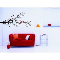 Adesivo Decorativo De Parede Galho Pássaros Árvore Flor