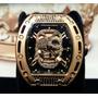 Relógio Richard Mille Cravejado Caveira Skull Rose Kingbr
