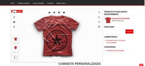 Script + Site Completo Criar (personalizar) Camisetas Online 5ec58573586db