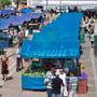 Lona 350 Azul Impermeável Para Barraca De Feira 5x1,5 Mts