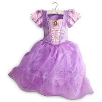 Fantasia Princesa Rapunzel Disney Vestido 6, 7, 8 Anos Novo