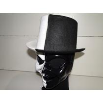 Palhaço De Circo Cartola E Mascara Preta E Branca