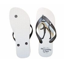 Chinelo Abercrombie & Fitch Branco