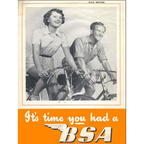 Bicicletas Antigas - Catálogo Bsa Anos 50