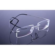 Armação Prata Grau Oculos Metal Titanium Titanio Sem Aro 408