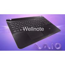 Teclado Topcase E Touchpad Sony Vaio Fit 15e Svf15213cbb Br