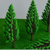 Arvore Maquete Diorama Miniatura Ferreomodelismo 25 Unidades