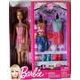 Boneca Barbie Morena Kit Fashion Roupas Acessórios. Na Caixa