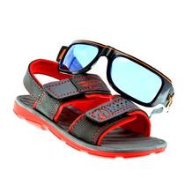 Sandália Hot Wheels 21211 Vermelho/preto Com Brinde Óculos