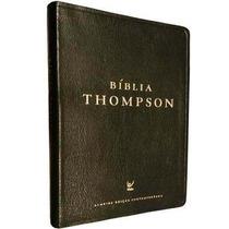 Bíblia De Estudo Thompson Capa Couro Luxo Preta