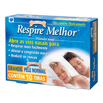 Respire Melhor Dilatador Nasal Pele Normal Tam G 10tiras