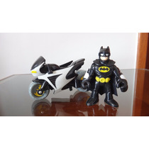 Batman Com Moto Imaginext Fisher Price