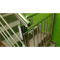 Guarda Corpo Corrimão Para Escadas Em Aço Inox Polido Alto P