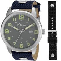 Kit Relógio Condor Masculino Troca Pulseiras Co2115um/3c