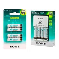 Carregador Sony Kit 4 Pilhas Aa + 4 Pilhas Aaa Palito
