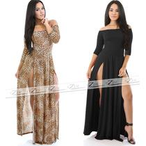Vestidos Femininos Longo Estampado E Liso Viscolycra Sereia