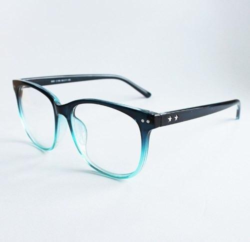 206d60867ccf6 Armação De Óculos Para Grau Feminina Quadrada Degradê Azul
