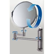 Espelho De Aumento Articulado P / Banheiro Dupla Face
