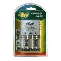 Kit Carregador + 4 Pilhas Aa + 2 Baterias Recarregável 9v