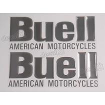 Par Adesivos Buell American Motocycles Resinado Cromado
