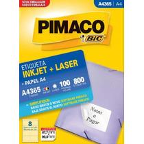 Etiqueta A4365 Pimaco Cx C/ 100 Folhas 800 Etiquetas