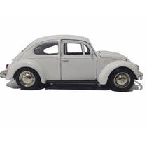 Carrinho Fusca Branco De Ferro - Vw Beetle Miniatura 1/32