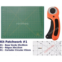 Kit Base De Corte + Régua + Cortador Patchwork Scrapbook #1