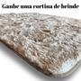 Tapete Sala 2,00x1,40 Felpudo Pel/ Luxo Mesc+brinde Cortina