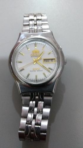 207370776c5 Raridade Relógio Orient Branco Lindo Antigo Coleção