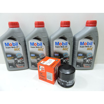 Kit Troca Oleo/filtro Fram 6017 Kawasaki Z-750 Mobil 15w50