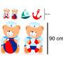 6 Display Ursinho Marinheiro De Chão E Mesa