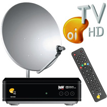 Kit Oi Tv Livre Hd Ns1030 Decoder + Lnbf + Cabo + Antena