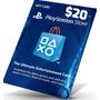 Playstation Network Gift Card Cartão Psn $20 Dolares Ps3 Ps4
