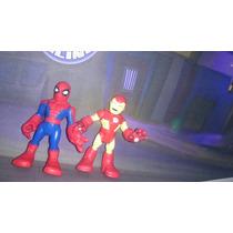 Bonecos Super Hero Squad Homem Aranha + Homem De Ferro #2