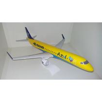 Maquete Em Resina Avião Erj-190 Azul Band