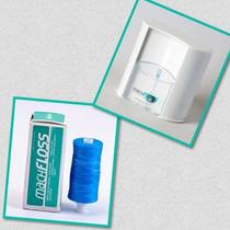 Dispenser De Fio Dental Bucal + Refil 400 Metros Sabor Menta