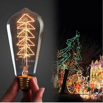 Lampada De Filete De Carbono Vintage Edson - Arvore De Natal
