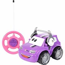 Carro Controle Remoto Fiat-fun Car Lilás 3 Funções Original