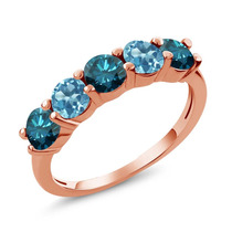Blue Diamond Anel De Ouro Rosa