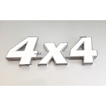 Emblema 4x4 Jeep Cherokee Wrangler Willys Metal- Branco !!!