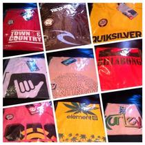 Kit 50 Camisetas Quicksilver Oakley Billabong Oakley Element